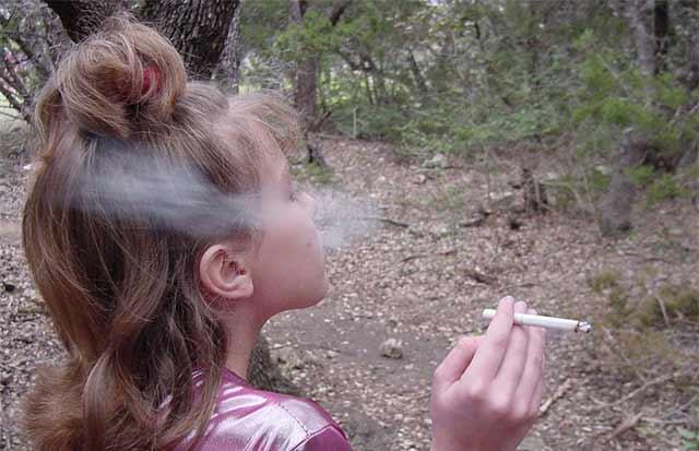 Mom And Daughter Smoking