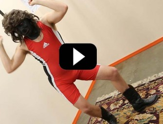 Weirdo In Wrestling Singlet Dancing