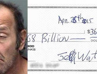 Florida Man Attempts To Cash $368 Billion Check