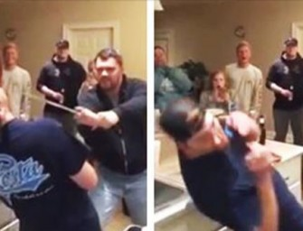 VIDEO: Man Cuts Friend's Nose Off After Failed Sword Trick (GRAPHIC)