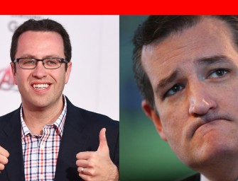 Subway Jared Endorses Good Friend Ted Cruz