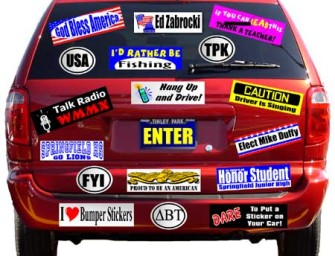 12 Super Stuppid Bumper Stickers