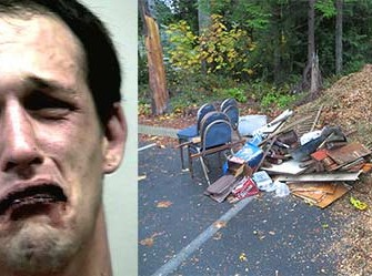 Man Calls 911 and Reports Himself for Illegal Trash Dumping